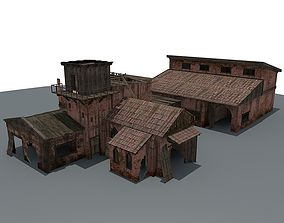 3D model Ruined House 4