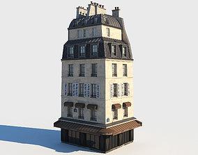 Corner paris building 3D model