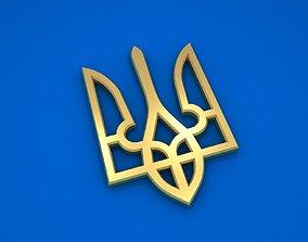 Ukrainian Trident 3D model national