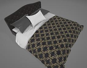 3D asset Bedroom Bed