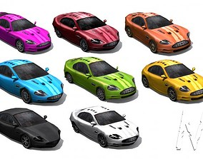 Collection Low poly cars - set 1 3D model