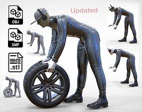 3D print model N1 Mechanic or pit crew 1 64 Miniature