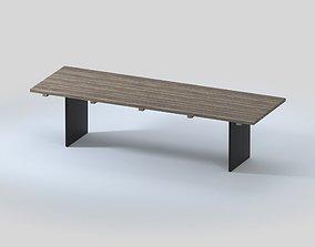 NEW YORK RECLAIMED TEAK DINING TABLE 3D model