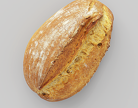 Photorealistic Bread 3D model game-ready