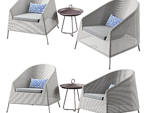 3D Cane Line Kingston Lounge chair set