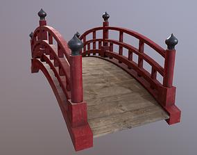 Japanese red bridge 3D asset realtime