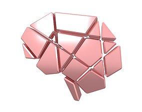 3D model Brain Symbol v2 007