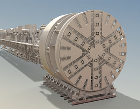 TBM-High detail Tunnel Boring Machine 3D model low-poly