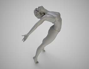 3D printable model Girl Jumping into Water