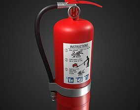3D Fire Extinguisher - High Poly
