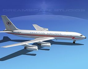 3D model Boeing 707 American Airlines 1