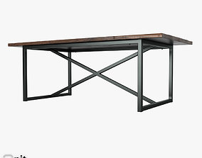 3D Salvaged Boatwood Rectangular Table by Restoration