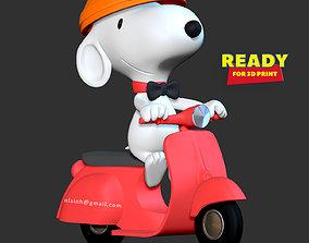 animal 3D printable model Snoopy Dog