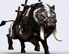 animated realtime 3DRT - Fantasy Mount Boar