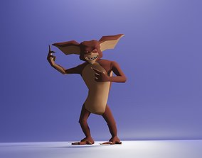 3D asset Rigged Lowpoly Male Character - Gremlin