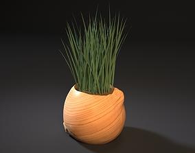 3D printable model bow planter