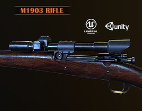 3D asset Springfield M1903 Sniper rifle with M84 scope PBR