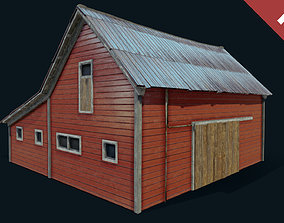 3D asset Farm Red Barn