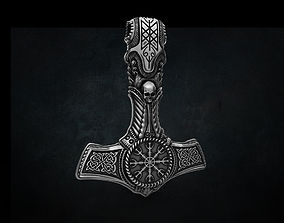 THOR Hammer Pendant STL 3D print 3D model for 1