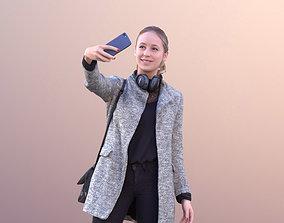 Elena 10654 - Woman Standing Taking Selfie 3D asset