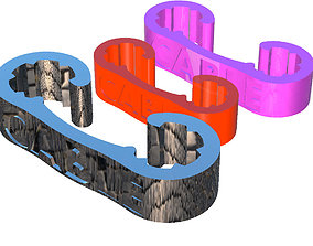 3D printable model Clip cable storage