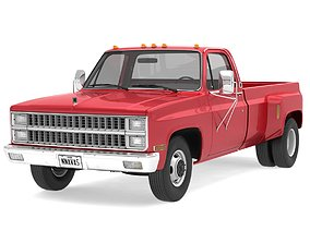 3D model GENERIC DUALLY PICKUP TRUCK 2