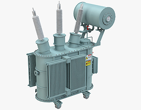 3D Electrical Transformer 6