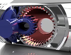 Concept Opposed piston Engine 3D printable model