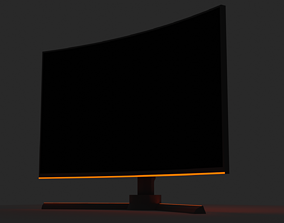 Curved Screen Gaming Monitor 3D model