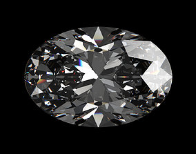3D model Diamond Oval