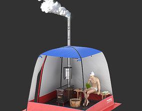 Camping Tent - Bathhouse 3D model