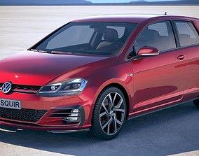Volkswagen Golf GTI 2017 3D model