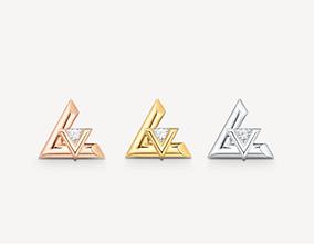 LV VOLT STUD earrings replica 3D printable model