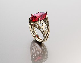 character Ring for Womens 3D print model