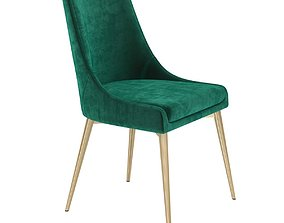 3D model All modern Gabrielle Upholstered Dining Chair