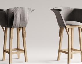 Chair modern style grey 3D asset