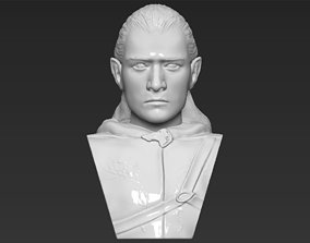 Legolas bust Lord of the Rings 3D printing ready stl obj