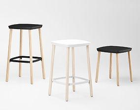 Nau Grain Bar stool 3D model