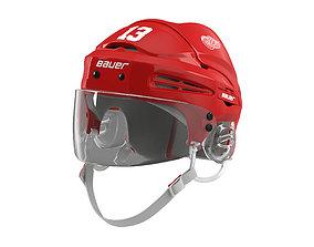 3D Hockey Helmet Detroit Red Wings
