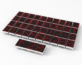 LED dot matrix display modules 3D model