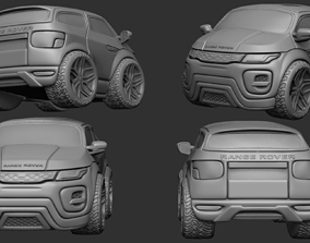 Cute Stylized Range Rover Car 4WD - 3D print ready - 2