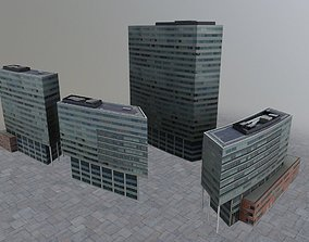 3D asset low-poly Amsterdam Bright Offices