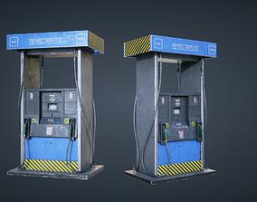 3D model low-poly Gas Pump