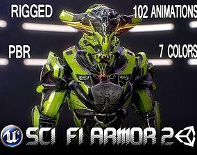 Sci-Fi Armor 2 3D asset animated