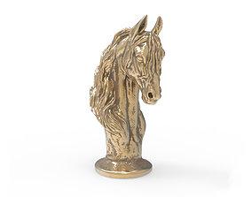 3D Horse Torso Statue