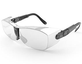 Safety glasses for worker construction 3D model