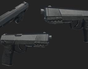 QSZ-92 weapon 3D model