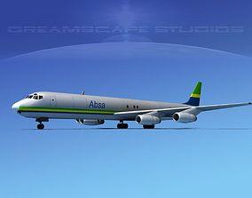 Douglas DC-8-63F ABSA Cargo 3D model