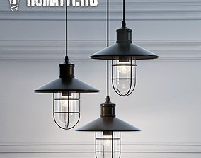 3D model Hanging lamp Romatti Castle color