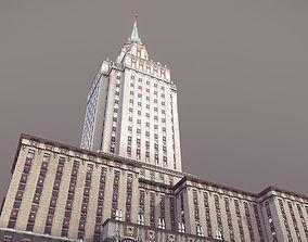 Hotel Hilton Leningradskaya 3D asset